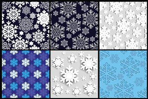 Christmas background. Snowflakes.