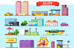 Big City Buildings Set