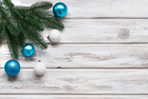 Christmas background blue and white