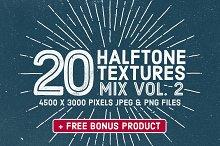 20 Halftone Textures Mix Vol. 2