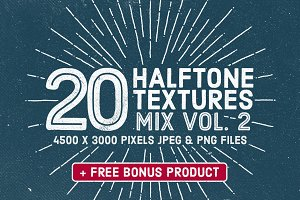 20 Halftone Textures Mix Vol. 2