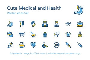 125+ Cute Medical and Health Icons
