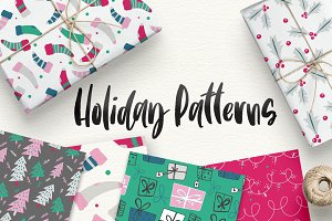 Holiday Christmas Xmas Patterns