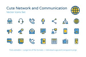 100+ Network and Communication Icons