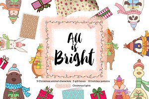 All is Bright. Christmas holiday kit