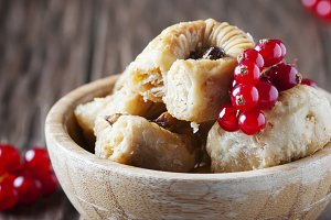 Baklava with red currant
