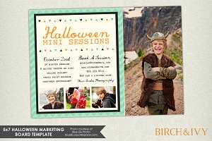 Halloween Marketing Board Template