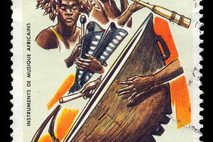 African Music Postage Stamp