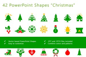 """PowerPoint shapes """"Christmas"""""""