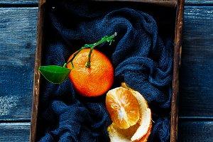 Juicy ripe tangerine