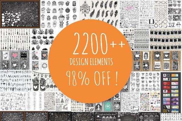 98 % OFF 2200++ Design elements