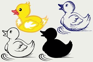 Nice small duckling SVG