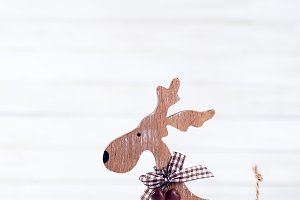 Christmas wooden deer