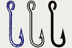 Fishing hook SVG