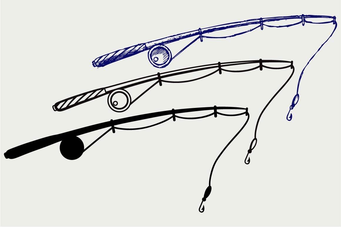 Download Fishing Rod Svg Pre Designed Illustrator Graphics Creative Market