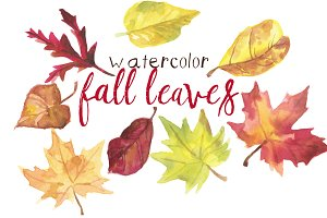 Watercolor Fall Leaves
