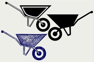 Garden wheelbarrow SVG