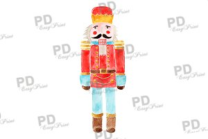 Watercolor Nutcracker Clipart