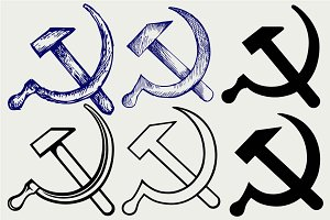 Hammer and sickle SVG