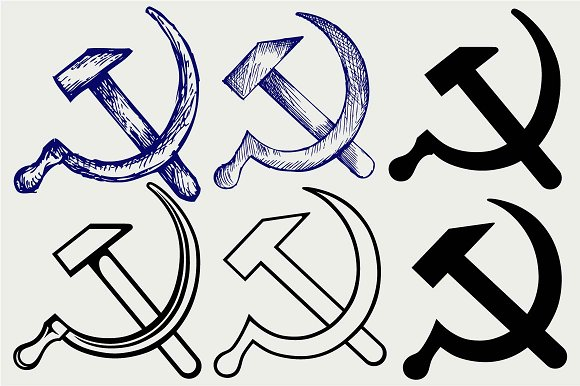Hammer And Sickle Svg Icons Creative Market