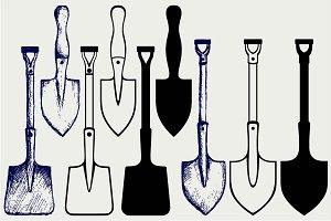 Shovels and spades SVG