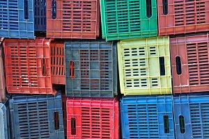 Colorful Plastic Crates