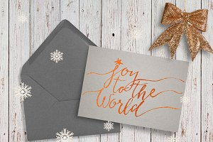 Christmas lettering card