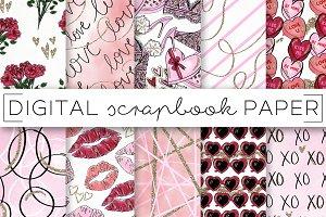 Valentine's Day Love Digital Paper
