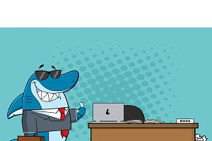 Smiling Business Shark