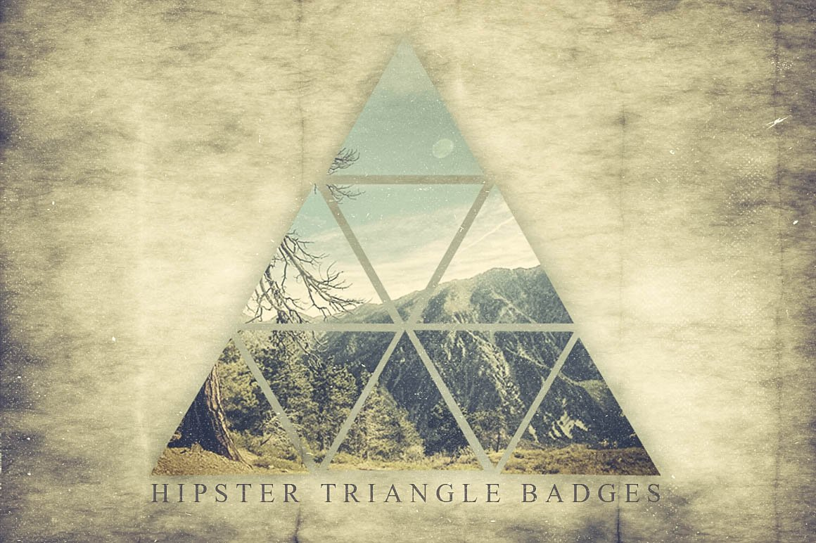 Hipster Triangle Badges Logo Templates Creative Market