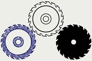 Circular saw blade SVG