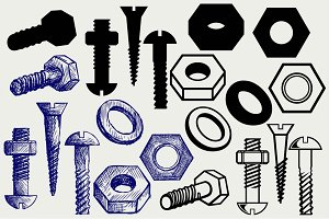 Set of screws SVG