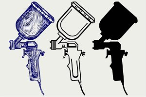 Spray gun SVG