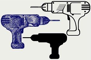 Cordless drill SVG