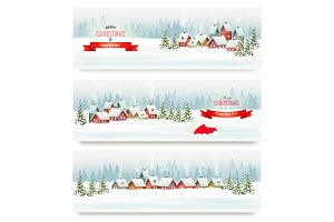 Holiday Christmas banners