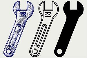 Adjustable wrench SVG