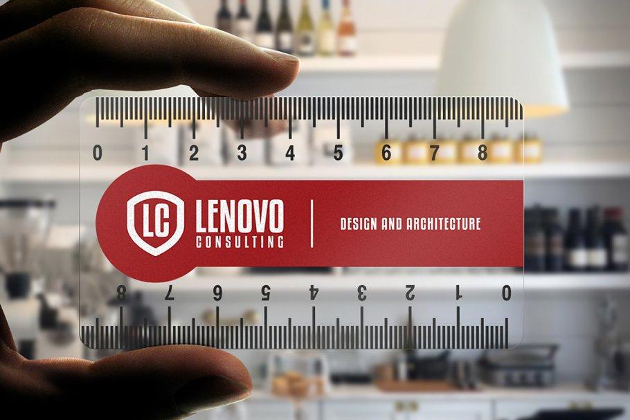 transparent ruler business card  creative business card
