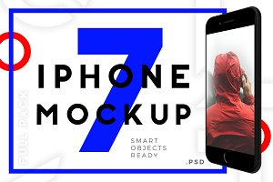 Mockup Iphone 7 Full Mock-up Pack