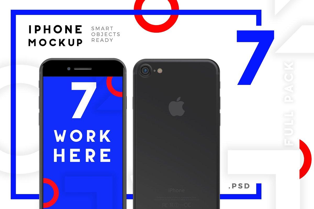 Mockup Iphone 7 Full Mock-up Pack ~ Mobile & Web Mockups ~ Creative