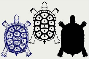 Turtle top view SVG