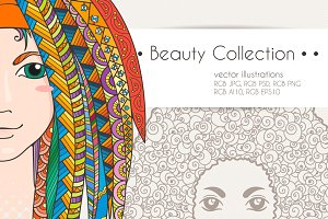 Beauty Girls Vector Collection