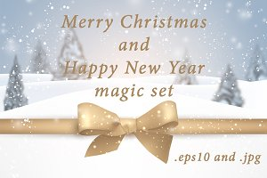 Set of New Year & Christmas cards
