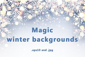Magic winter backgrounds