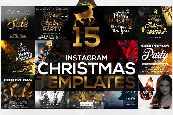 15 Instagram Templates: Christmas