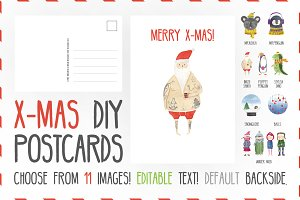 X-Mas Postcards & Illustrations. DYI