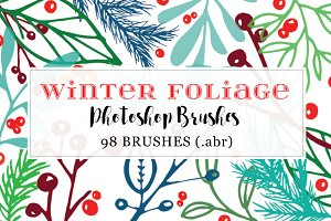 Winter Foliage Photoshop Brushes