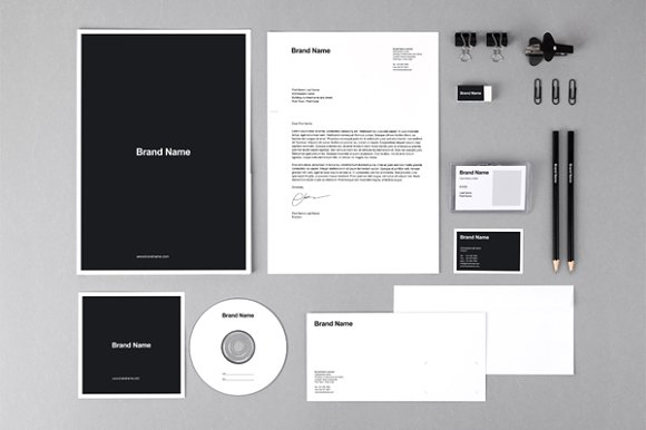 Download Branding identity MockUps + Template