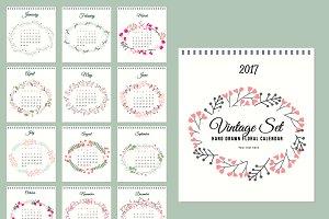 2017 Calenda floral set