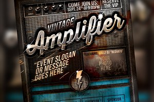 Vintage Amplifier Flyer Kit