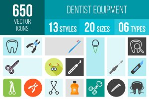 650 Dentist Equipment Icons